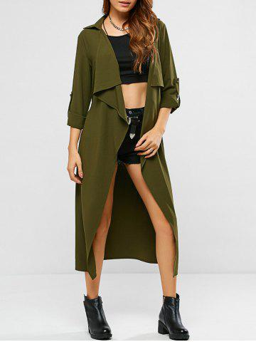 Unique Tie Belt Adjustable Sleeve Trench Coat