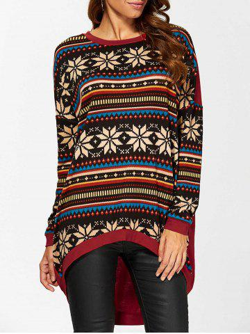 Fashion High Low Pullover COLORMIX L