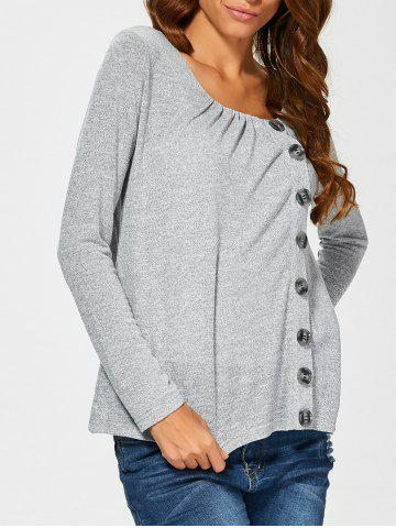 Trendy Side Button Up Cardigan