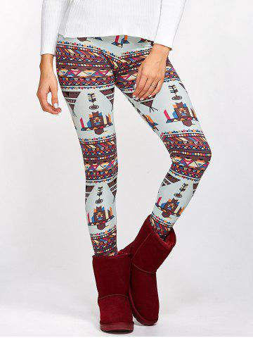 Online Funny Geometrical Print Bodycon Leggings