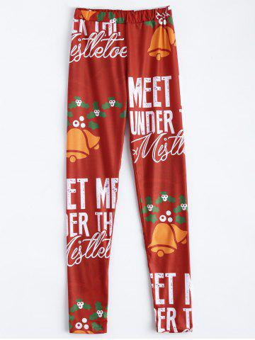 Outfits Meet Me Under The Mistletoe Christmas Leggings RED XL