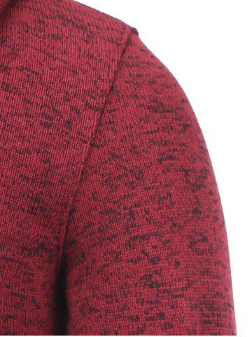 Buy Hooded Cotton Blends Applique Zip Up Hoodie - XL RED Mobile