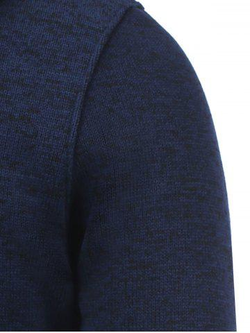 Store Hooded Cotton Blends Applique Zip Up Hoodie - L BLUE Mobile