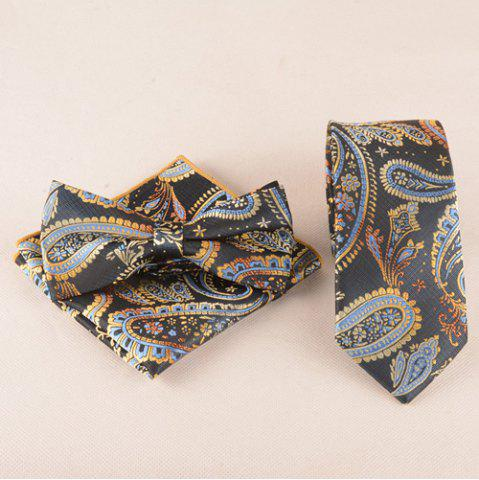 Best Casual Classic Cashews Pattern Tie Pocket Square Bow Tie