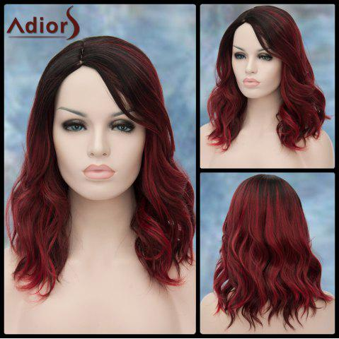 Online Adiors Medium Double Color Side Parting Wavy Lolita Synthetic Wig