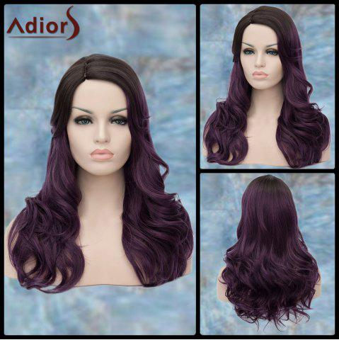 Best Adiors Long Side Parting Curly Purple Ombre Lolita Synthetic Wig COLORMIX