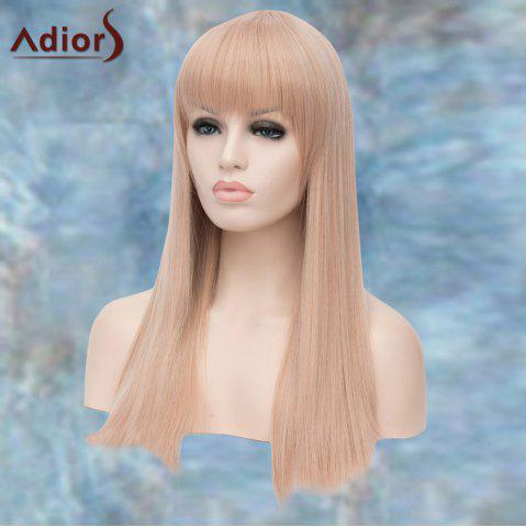 Online Adiors Long Full Bang Straight Lolita Synthetic Wig - WHITE GREY  Mobile