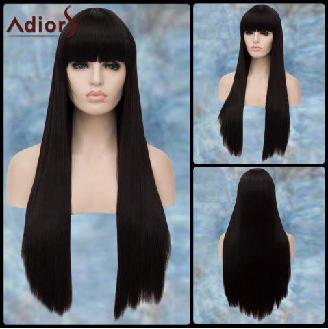 Sale Adiors Gorgeous Long Full Bang Straight Lolita Synthetic Wig