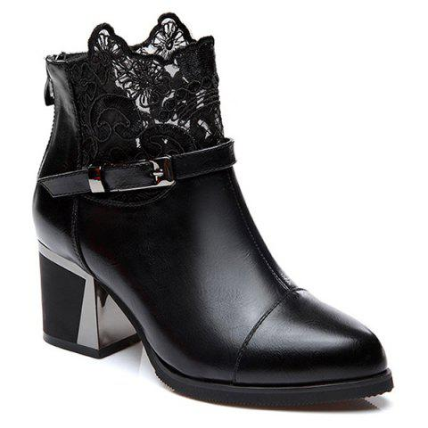 Best Buckle Strap Zipper Lace Ankle Boots