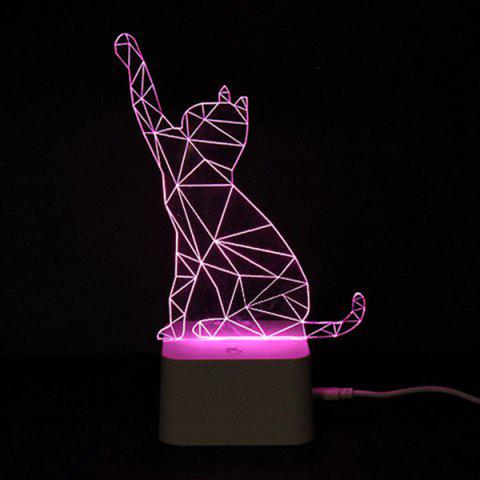 Colorful Remote Control 3D Visual Atmosphere LED Night Light - Colorful