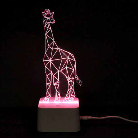 Buy Colorful Remote Control 3D Visual Giraffe Atmosphere LED Night Light COLORFUL