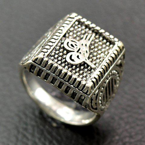 Best Classic Embossed Geometry Ring SILVER 21