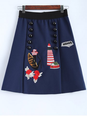 Buy Embroidered A Line Skirt