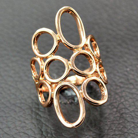 Best Boho Circle Hollow Out Ring ROSE GOLD 18