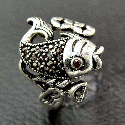 Hot Vintage Fish Animal Embossed Ring
