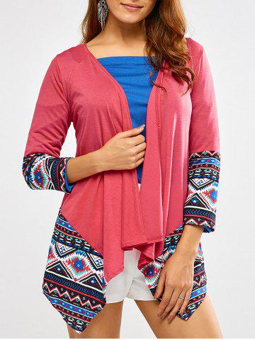 Shop Open Front Printed Draped Blouse