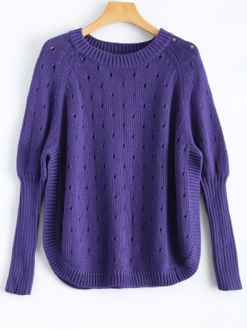 Shops Side Slit Open Stitch Sweater