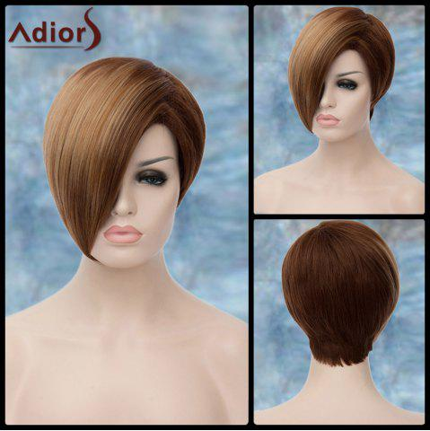 New Adiors Short Side Parting Highlight Straight Synthetic Wig