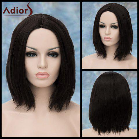 Trendy Adiors Medium Straight Shaggy Middle Parting Synthetic Wig