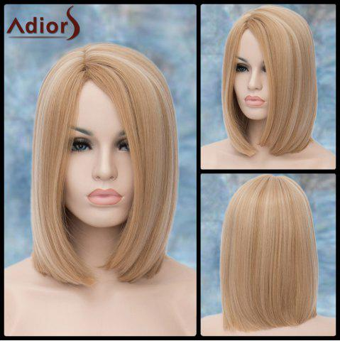 Fancy Adiors Medium Straight Highlight Side Parting Synthetic Wig