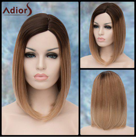 Store Adiors Medium Straight Ombre Side Parting Synthetic Wig COLORMIX