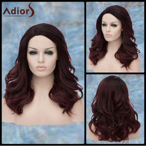 New Adiors Long Side Parting Shaggy Wavy Synthetic Wig COLORMIX
