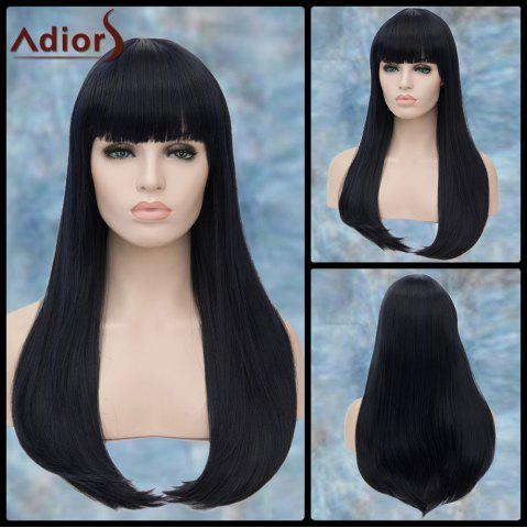 Store Adiors Long Neat Bang Straight Tail Adduction Synthetic Wig