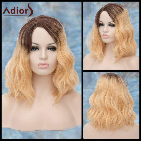 Latest Adiors Medium Side Parting Ombre Wavy Shaggy Synthetic Wig
