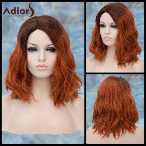 Affordable Adiors Medium Side Parting Colormix Wavy Fluffy Synthetic Wig COLORMIX