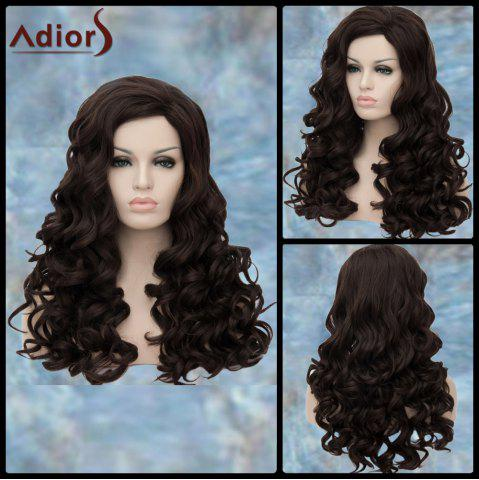 Shops Adiors Long Boutique Wavy Side Parting Synthetic Wig DEEP BROWN