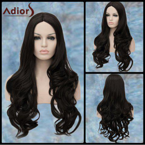 Online Adiors Long Centre Parting Wavy Synthetic Wig BLACK
