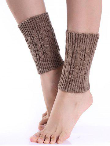 Hot Cable Knitted Boot Cuffs KHAKI