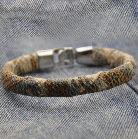 Fancy Vintage Camouflage Pattern Artificial Leather Bracelet COLORMIX
