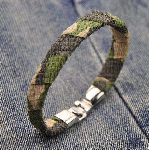 Hot Vintage Camouflage Design Artificial Leather Bracelet CAMOUFLAGE COLOR