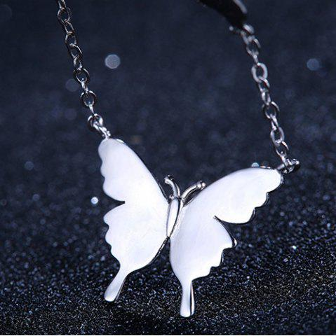 Fancy Butterfly Necklace - SILVER  Mobile