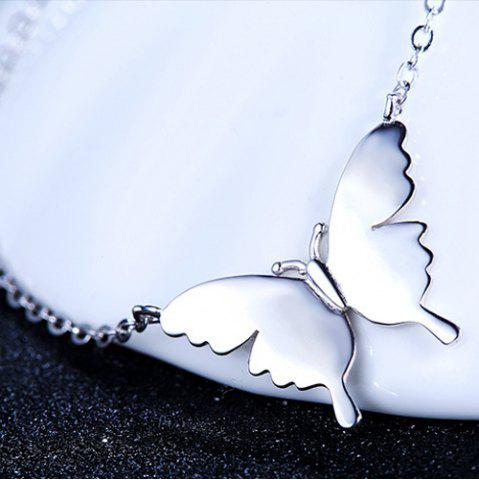 Latest Butterfly Necklace - SILVER  Mobile