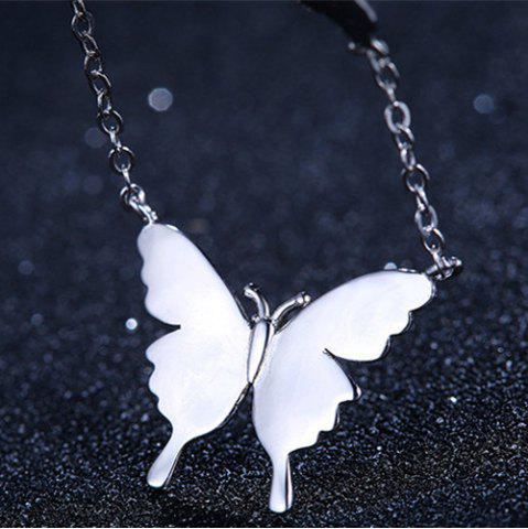 Outfits Butterfly Necklace - SILVER  Mobile