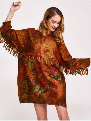 Shop Fringe Tribal Sweater Dress