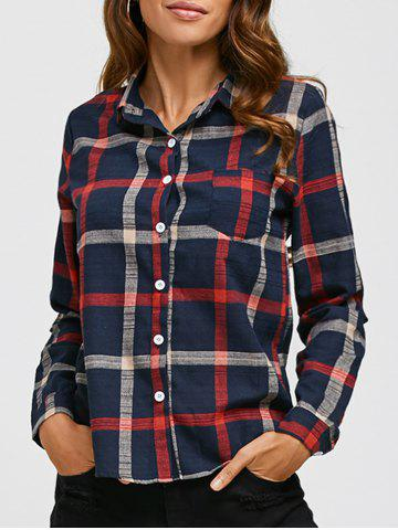 New Button Up Checkered Plaid Shirt CHECKED M