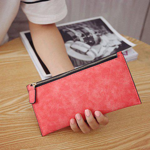Chic PU Leather Zip Up Coin Purse