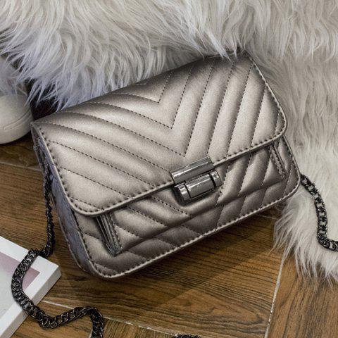 Best Quilted Chains Crossbody bag SILVER