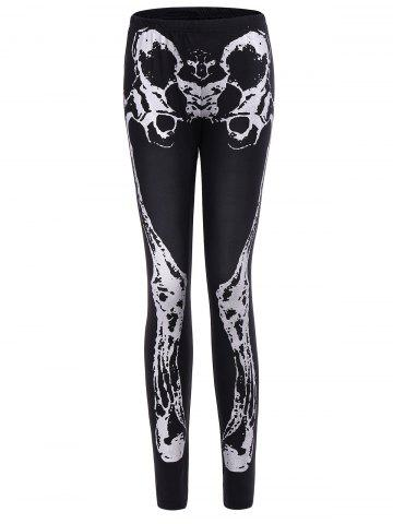 Unique Halloween Skeleton Pattern Leggings