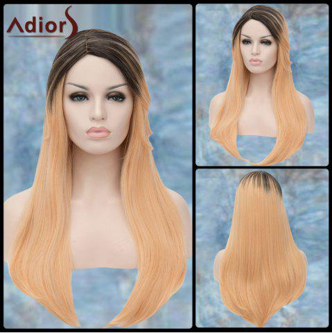 Adiors Long Colormix Straight Side Parting Synthetic Wig - COLORMIX