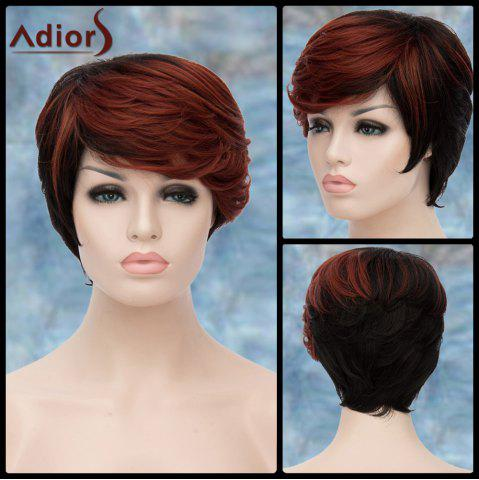 Discount Adiors Highlight Short Inclined Bang Straight Synthetic Wig COLORMIX