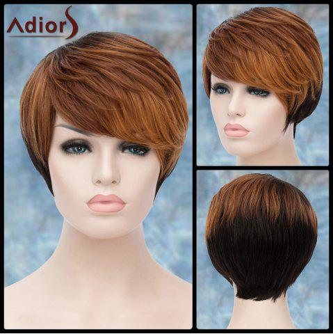 Store Adiors Short Layered Highlight Side Bang Straight Synthetic Wig