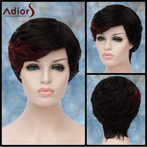 Online Adiors Short Highlight Layered Side Bang Straight Synthetic Wig