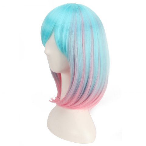 Online Medium Side Bang Colored Straight Cosplay Synthetic Wig - COLORMIX  Mobile