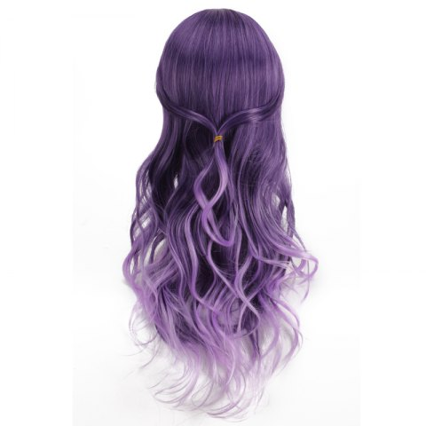 Outfits Long Purple Ombre Side Bang Wavy Cosplay Synthetic Wig - COLORMIX  Mobile