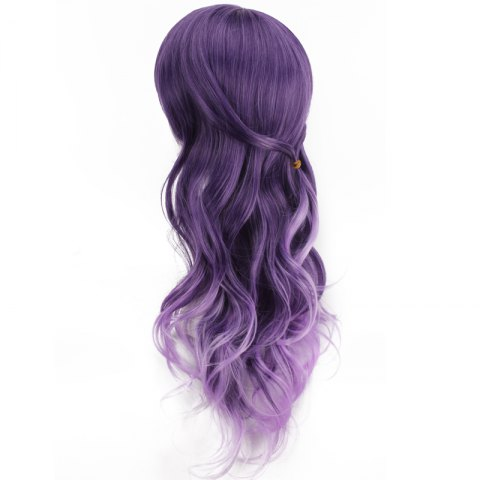 Discount Long Purple Ombre Side Bang Wavy Cosplay Synthetic Wig - COLORMIX  Mobile