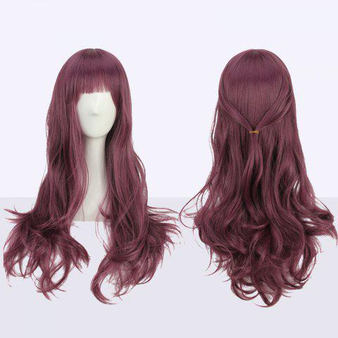 Sale Long Full Bang Slightly Curled Cosplay Synthetic Wig